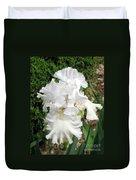 The White Iris Duvet Cover