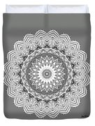 The White Mandala No. 2 Duvet Cover