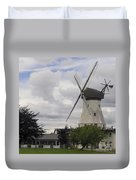 The White Windmill Duvet Cover