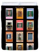 The Windows Of Venice Duvet Cover
