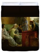 The Wine Shop Duvet Cover by Sir Lawrence Alma-Tadema