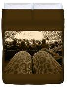 The World Thru Leopard Printed Pants Duvet Cover