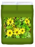 The Yellow Daisies  Duvet Cover