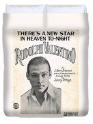 There's A New Star In Heaven Tonight Rudolph Valentino Duvet Cover