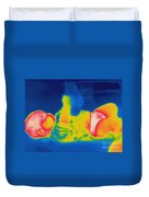 Thermogram Of A Baby Duvet Cover