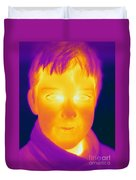 Thermogram Of A Boy Duvet Cover