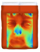 Thermogram Of A Boys Face Duvet Cover