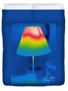 Thermogram Of A Lamp Duvet Cover