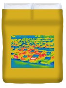 Thermogram Of A Parking Lot Duvet Cover