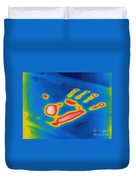 Thermogram Of A Thermal Shadow Duvet Cover