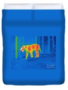 Thermogram Of A Tiger Duvet Cover