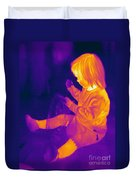 Thermogram Of A Young Girl Duvet Cover