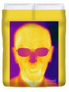 Thermogram Of An Elderly Man Duvet Cover