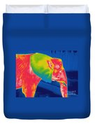 Thermogram Of An Elephant Duvet Cover