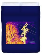 Thermogram Of Electrical Wires Duvet Cover by Ted Kinsman