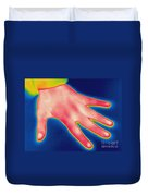 Thermogram Of Hand Duvet Cover