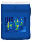 Thermogram Of Kids Hanging Duvet Cover