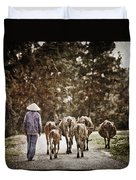 They Walk Together Duvet Cover
