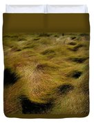 Thick Grasses Blow In The Wind And Form Duvet Cover