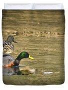 Thin Ice Wet Duck Duvet Cover