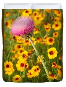 Thistle And Coreopsis 2am-110455 Duvet Cover