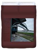 Thomas Edison Depot And Blue Water Bridges 2012 Duvet Cover