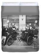 Thomas Edison In Quadricycle Duvet Cover
