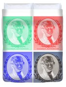 Thomas Jefferson In Negative Colors Duvet Cover