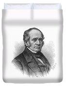 Thomas O. Larkin (1802-1858). American Merchant And California Pioneer. Wood Engraving, 19th Century Duvet Cover