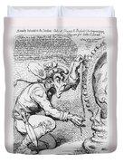 Thomas Paine Caricature Duvet Cover