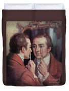 Thomas Young, English Polymath Duvet Cover by Science Source