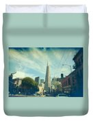 Those Sunny Downtown Days Duvet Cover