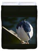 Thoughtful Bird Duvet Cover