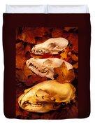 Three Animal Skulls Duvet Cover