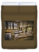 Three Beds Horror Duvet Cover by Nathan Wright