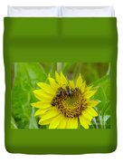 Three Bees Hunkering Down Duvet Cover