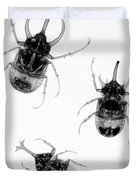 Three Beetles X-ray Duvet Cover