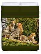 Three Cats Duvet Cover