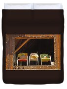 Three Chairs With A View Duvet Cover