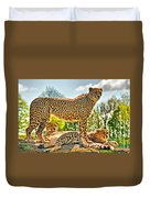 Three Cheetahs Duvet Cover