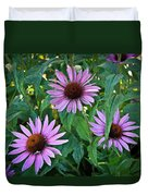 Three Coneflowers Duvet Cover
