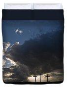 Three Crosses, West Yorkshire, England Duvet Cover