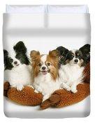 Three Dogs Duvet Cover