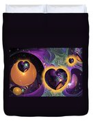 Three Hearts Duvet Cover