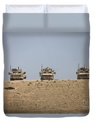Three M-atvs Guard The Top Of The Wadi Duvet Cover
