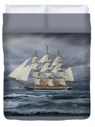 Three Masted Ship Duvet Cover