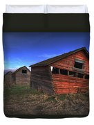 Three Old Red Granaries On The Alberta Duvet Cover