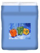Three Peppers Duvet Cover