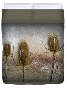 Three Prickly Teasels Duvet Cover