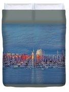 Three Times New York City Duvet Cover